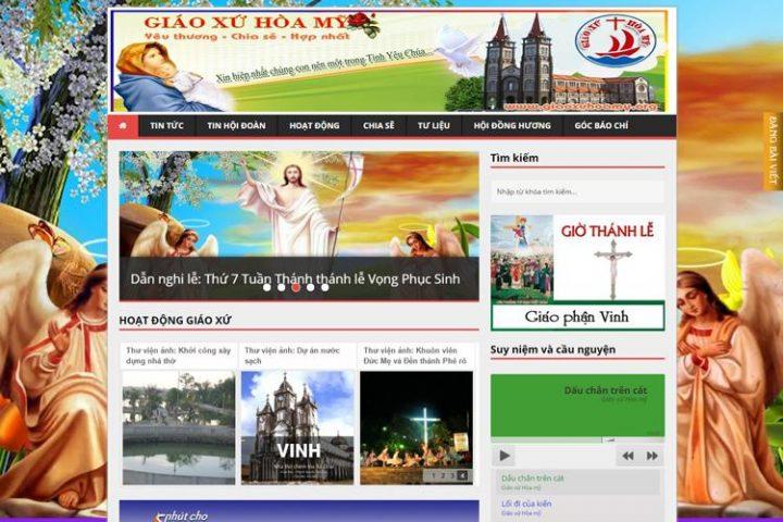 giáo xứ hòa mỹ, nhà thờ, công giáo, website tôn giáo, thiết kế web, website công ty, website giáo dục, web bán hàng, web doanh nghiệp, website đà nẵng