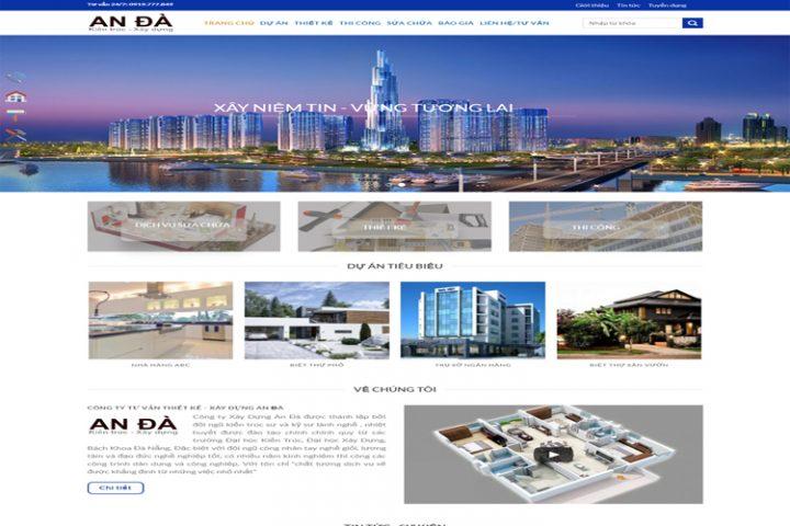 website xây dựng và kiến trúc An Đà