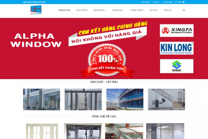 Website nhôm kính Alpha Đà Nẵng