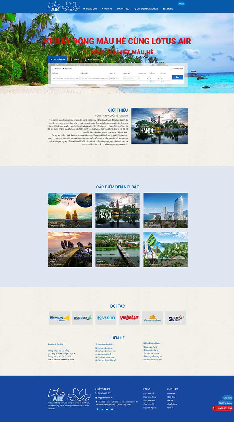 Web bán vé máy bay Song Nhi